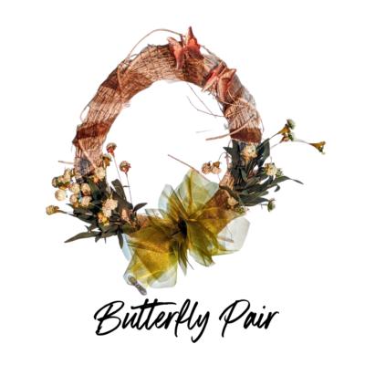 Solar Butterfly Wreath