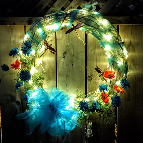 Solar Dragonfly Wreath
